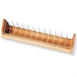 Wooden Feeder + Metal Grid...