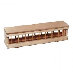 Wooden Feeder + Flat Top 100cm