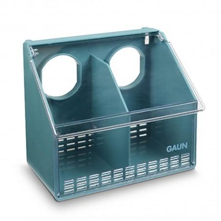 Gaun - 2 Hole Plastic Pigeon Stock Bird Feeder