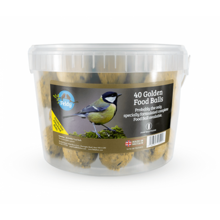 Feldy - Wild Bird Golden Fat Balls - 40x100g Bucket