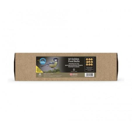 Feldy - Wild Bird Golden Fat Balls - 40x100g Refill Box